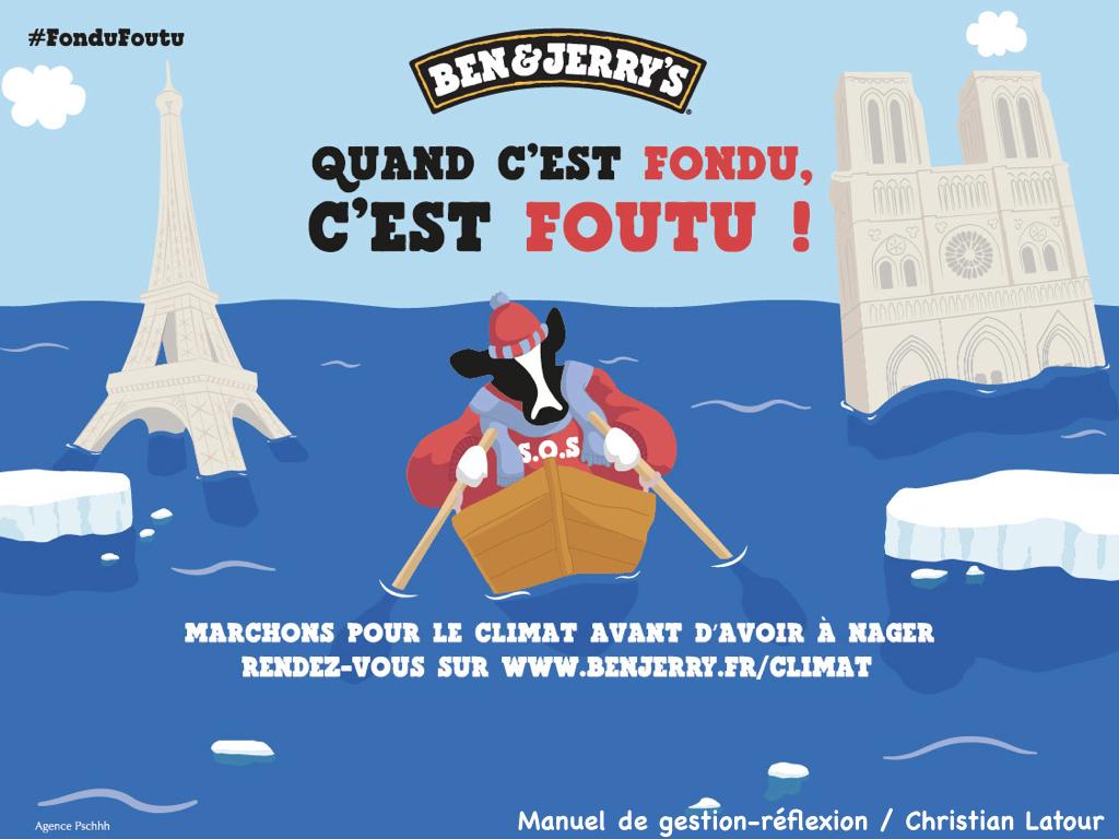 Affiche Ben & Jerry's : Quand c'est fondu, c'est foutu !